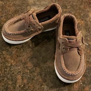 Sperry Top-sider toddler size 5.5 brown leather